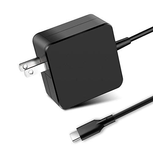Skimola 65W/61W USB C AC Charger,Laptop Power Adapter for MacBook/Pro,Lenovo,ASUS,Dell XPS,HP Spectre,Galaxy S10, Huawei Matebook,Xiaomi Air and Other Laptops with The USB C (6.2ft, Black)