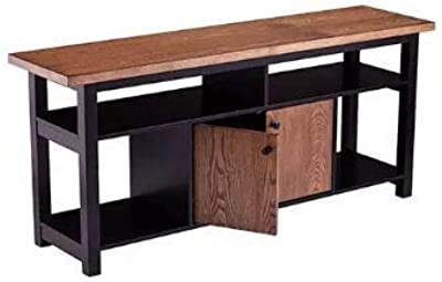 "60/"" TV Stand Console Sofa Table Rustic Apothecary Entertainment Cherry Finish"