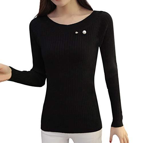 FRAUIT Elegant shirt met lange mouwen voor dames, watervaluitsnijding, tuniek mode kasjmier pullover oversized lange mouwen V-hals vleermuisvleugels herfst en winter warme gebreide trui