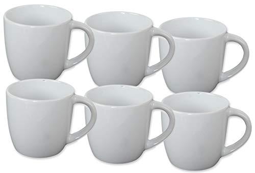Spetebo Keramik Kaffeebecher 250 ml - 6er Set - Kaffeetasse Tasse Becher Kaffeepot