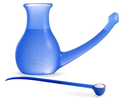 Yoga-mad Scandinavian Yoga and Meditation School Nosebuddy - Botella para limpieza de nariz, color azul