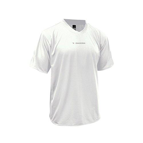 Diadora Soccer Men's Calcio Jersey, White, Medium