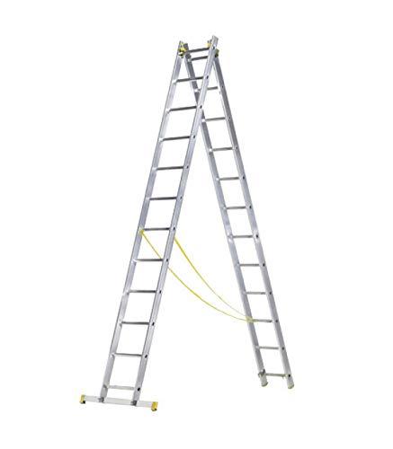 Escalera aluminio 2 tram. 10 + 10 peldaños