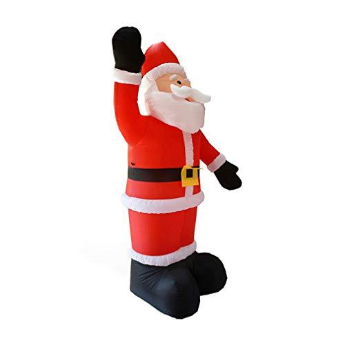 Mono hinchable de Navidad con diseño de Papá Noel con iluminación LED roja