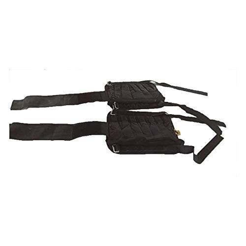 Verstellbarer Arm/Knöchel Legging Trainingsgeräte Gewichte Sandsack 1-20kg Krafttraining für den Boxsport Laufen(schwarzes 5-10kg Bein) Jasnyfall