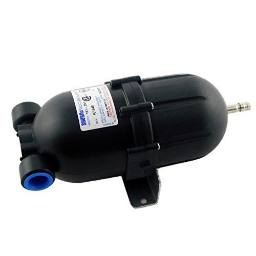 Shurflo 181-201 Accumulator Tank - Bladder-Type Pressure Storage Vessel/Pulsation Dampening Device To Hold Water Under Pressure, Max 125 PSI, 1/2' F-NPT Threaded Port, Nylon Housing, Butyl Diaphragm