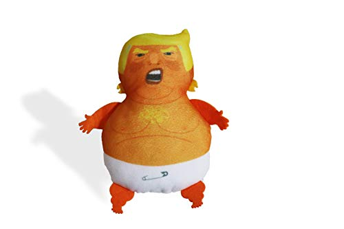 Donny Doll - Baby Donald Trump Plush Doll -Stuffed with Catnip. Novelty Toy { Baby Trump Balloon Protest} Cat Toy/Gag Gift; White Elephant