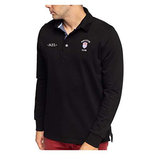 Shilton Polo Rugby Nation NZL, Langarm Gr. XXL, Schwarz