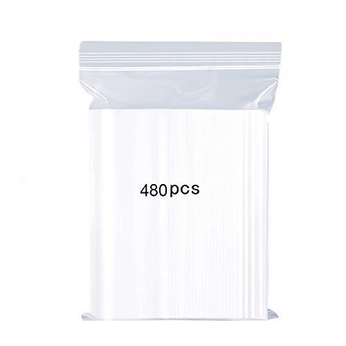 Bolsas Plastico Zip Pequeñas Bolsas Congelacion Transparente Reutilizable Cierre Bag Caramelos de Alimentos la Joyería Almacenamiento Cocina Engrosamiento y Duradero 4x6cm 480PCS