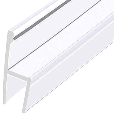 Junta de goma para mampara de ducha tipo H para sello inferior de puerta de cristal de 6 mm (90 cm)