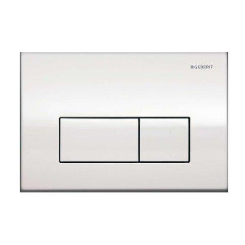 Geberit Kappa 50 Betätigungsplatte, Hochglanz-Chrom, für 2-Mengen-Spülung, Drückerplatte für WC – 115260211