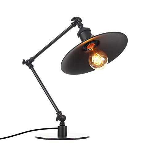 Lámpara de escritorio LED portalámparas de tornillo E27 lámpara de arquitecto de brazo oscilante, luz de escritorio de noche clásica para el regreso a la escuela, lectura, trabajo, oficina
