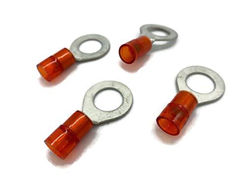 Kabelschuh 6mm2 bis 10mm2 M10 isoliert 4x Ringöse Pressöse Quetschkabelschuhe rot