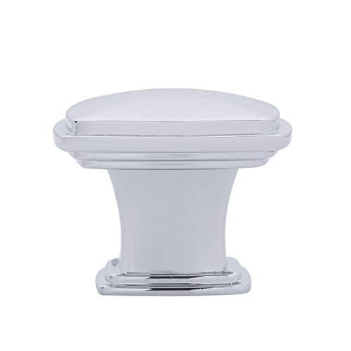 Amazon Basics Traditional Square Cabinet Knob, 1.25-inch Diameter, Polished Chrome, 25-Pack