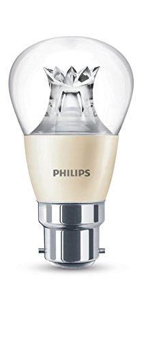 Philips 8718696525654 Patite ampoule LED à baïonnette B22 Lumière chaude Compatible avec variateur d'intensité Blanc chaud 6 W