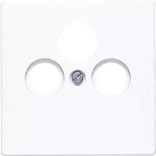 Preisvergleich Produktbild Jung LS990SATWW Abdeckung für SAT-TV-Steckdose,  Weiß