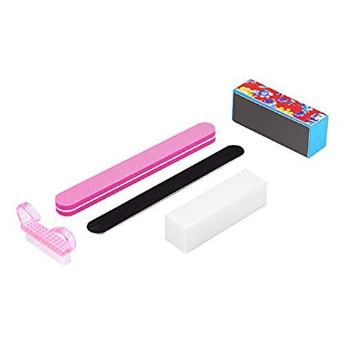 5pcs kit de polissage des ongles ponçage des fichiers tampon polonais bloc manucure pédicure conseils outils ensemble
