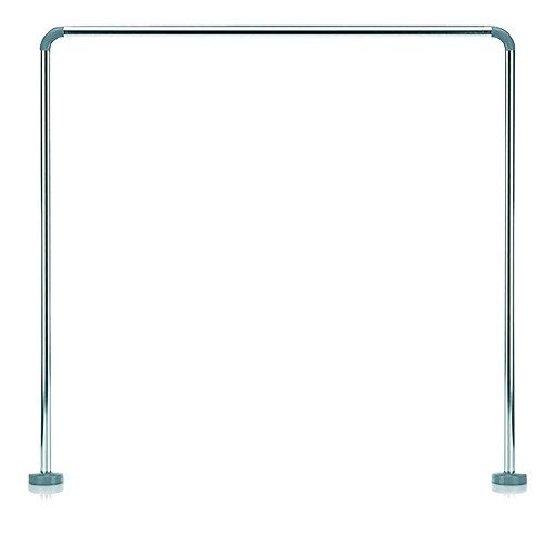 Kela 20995, Duschstange für Duschvorhang, U-Form, Aluminium, Ø 2,5 cm, L 90 x B 90 x H 90 cm, Cant, Silber Glänzend