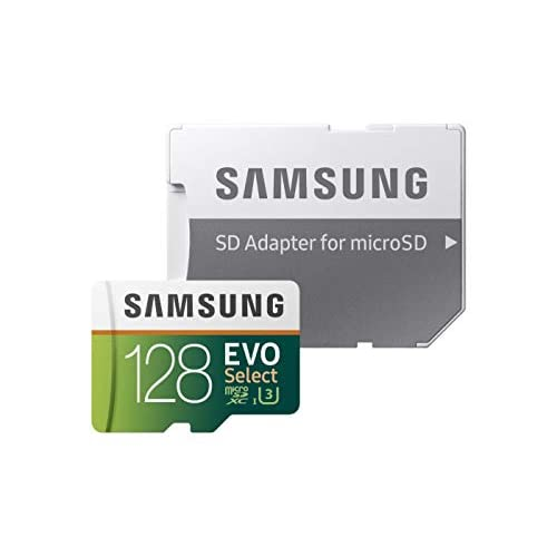 Samsung Memorie MB-ME128GA EVO Select Scheda microSD da 128 GB, UHS-I U3,  Fino a 100MB/s, con Adattatore SD