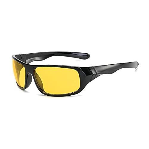 Deportes para Hombre Gafas de Ciclismo al Aire Libre Bicicleta Vidrios a Prueba de Viento Ciclismo Gafas de Sol Camping Gafas Deportivas al Aire Libre W6I3 (Color : Nightvision, Eyewear Size : M)