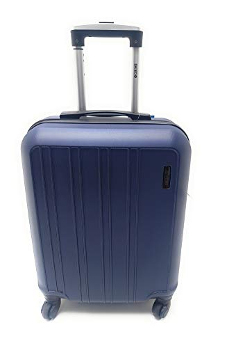 Trolley Ryanair Priority idoneo cm.55x40x20 ABS rigido 4 Ruote Bagaglio a mano Low cost (BLU)