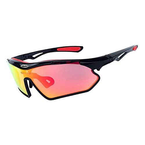 ZYUJ Gafas de ciclismo para hombres, gafas de sol deportivas para hombres y mujeres, gafas de pesca TR90 marco irrompible protección UV C3
