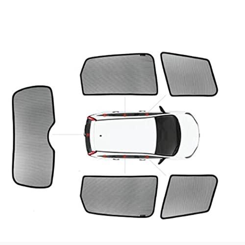 BNMH para Volkswagen VW Passat Santana TOURON TIGUAN Sharan MAGOTAN SAGITAR 2011-2018 Parasol Magnético para Ventana De Coche Parasol para Puerta De Coche (Color : 5 Window)