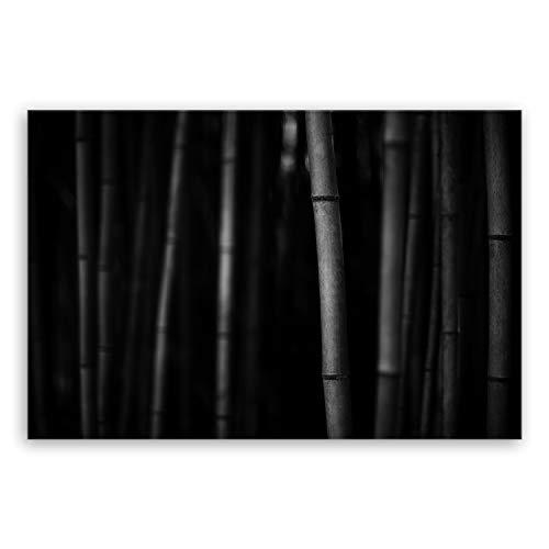 ge Bildet !!! SENSATIONSPREIS !!! Bilderdepot24 hochwertiges Leinwandbild - Bambus - schwarz weiß 30 x 20 cm einteilig 2285-B