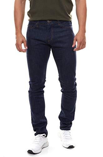 Roberto Cavalli Pantaloni Slim Fit da Uomo in Jeans Elasticizzati da Uomo Blu Scuro, Dimensione:W38