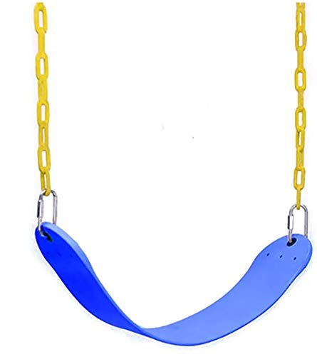 Durianner Metal Swing Set with 4 Carabiners for Backyard Tree Playground Outdoor Indoor Swing Set Accessories Kids Swing Seat– Blue