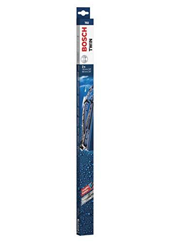 Escobilla limpiaparabrisas Bosch Twin 702, Longitud: 700mm/650mm – 1 juego para el parabrisas (frontal)
