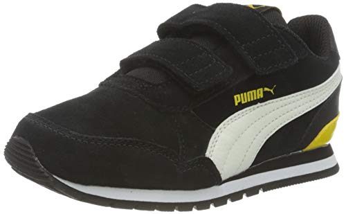 PUMA Unisex-Kinder St Runner V2 Sd V Ps Sneaker, Puma Black-Whisper White-Dandelion-Puma White, 29 EU