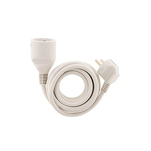 Prolongateur ménager 16A HO5VV-F 3G1 Blanc 1,90m - Zenitech