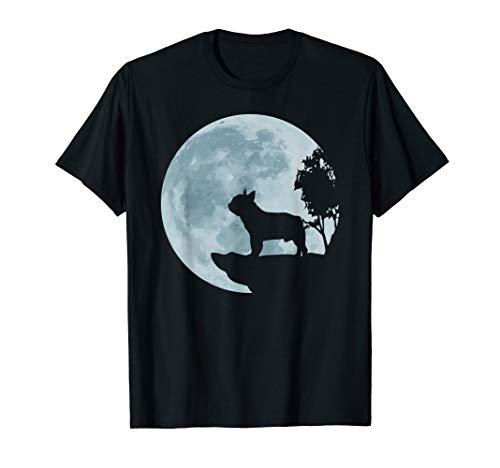 Französische Bulldogge Vollmond Hund Liebe Natur Geschenk T-Shirt