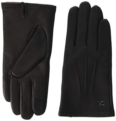 Calvin Klein Gloves Leather W/Box Juego de accesorios de invierno, Negro, M-L...