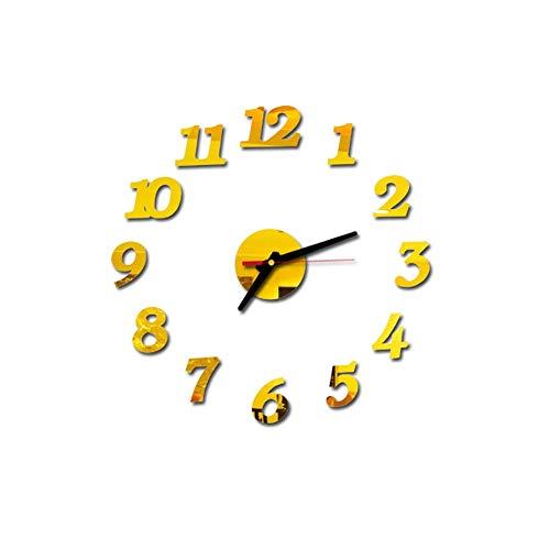 NXSP wandklok met kwartsuurwerk, stil, groot, om te knutselen, muurstickers, uurwerk
