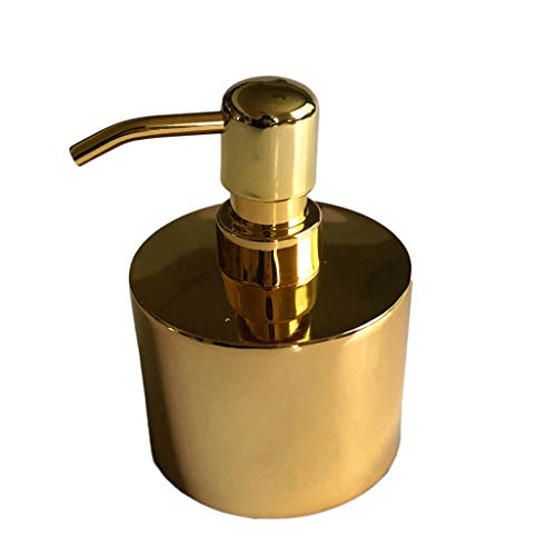 Distributore di Sapone Mani a Parete Acciaio inossidabile 304 bottiglia di lozione per le mani disinfettante per le mani bottiglia bottiglia di sapone cilindro più rivestimento oro Dispenser di Sapone