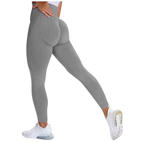 SHOBDW Pantalón Deportivo de Mujer Cintura Alta Leggings Mallas para Running Training Delgado Fitness Estiramiento Zumba Yoga y Pilates Pantalón Multicolor(Gris2,XL)