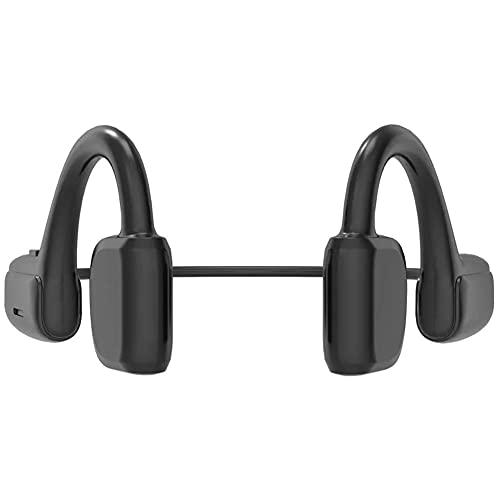 Auriculares de conducción ósea, auriculares en funcionamiento, auriculares inalámbricos de Bluetooth 5.1 G1 TWS Auriculares a prueba de sudoríparos para la oreja abierta para deportes corriendo negro