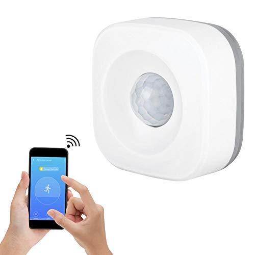 Sensor de Movimiento Pir, Detector de Movimiento por Infrarrojos con Cobertura Total, Libre de Puntos Ciegos, Adecuado para Uso en Interiores o Exteriores
