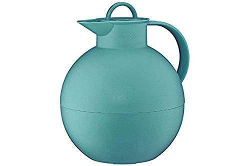 alfi Kugel, Thermoskanne Kunststoff türkis 0,94l mit alfiDur Vakuum-Hartglaseinsatz, Isolierkanne hält 12 Stunden heiß, ideal als Kaffeekanne oder als Teekanne - 0115.080.094