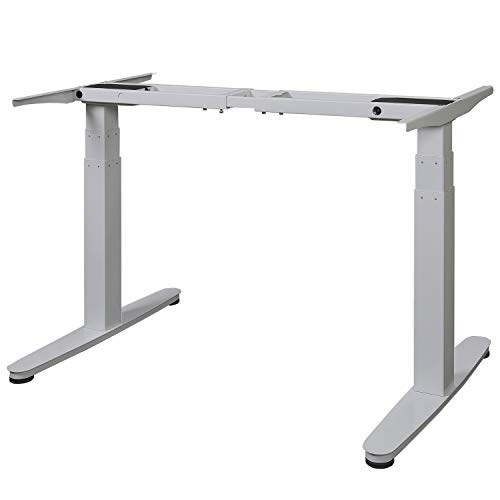 Maclean MC-830 Tischgestell Schreibtisch mit elektrischer Höhenverstellung ohne Tischplatte max. Höhe 130cm