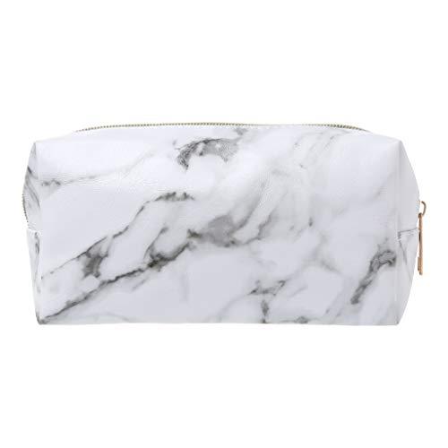 Youliy - Estuche para lápices de gran capacidad, estuche grande con cremallera, bolsa de mármol, suministros de almacenamiento de maquillaje