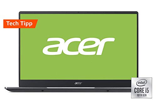 Acer Swift 3 (SF314-57-569S) 35,6 cm (14 Zoll Full-HD IPS matt) Ultrabook (Intel Core i5-1035G1, 8 GB RAM, 512 GB PCIe SSD, Intel UHD, Win 10 Home) grau