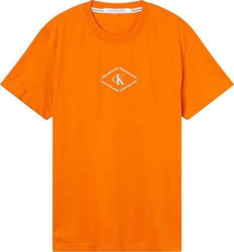 Calvin Klein Jeans CK MONOTRIANGLE tee Camiseta, Naranja Oxidado, M para Hombre