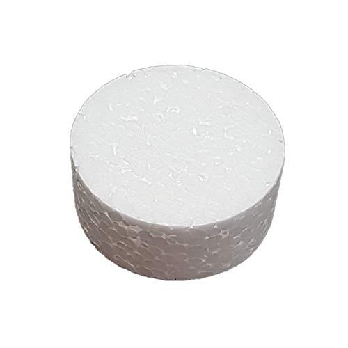 DecoPorex Circulo de 20Cm de diametro en Poliestireno sin Pintar para Bases de Tarta