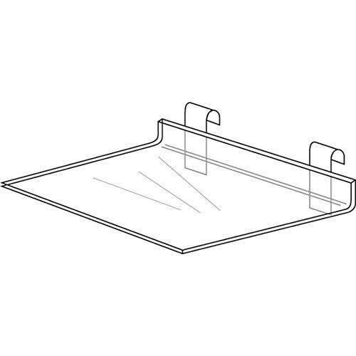 Gridwall Shelf, Clear Acrylic 24 x 12