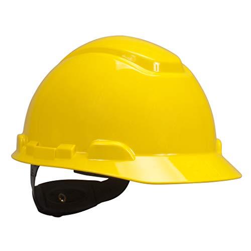 3M Hard Hat Yellow Lightweight Adjustable 4Point Ratchet H702R