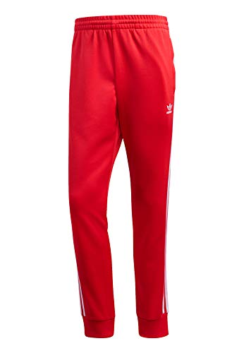 adidas Mens SST Track Pants, Lush Red, L
