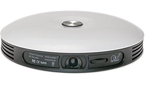 Smart Projector NT83 (beamer met ACCU | 4K FullHD 3D geschikt | DLP | LED | 300 inch | intern 32GB geheugen | besturingssysteem | WLAN | Bluetooth | HDMI | USB | luidspreker | draagbaar